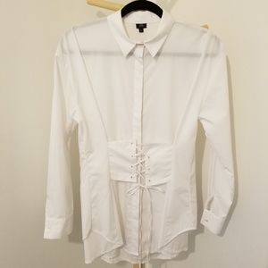 River Island corset-style shirt